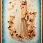 Il soccorso di Santa Chiara, cm 150x210, painting, collage, ink jet on ultra smooth fine art
