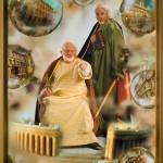 Il monito di San pietro e Paolo, cm 150x210, painting, collage, ink jet on ultra smooth fine art