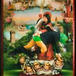 La punizione di Santa Giustina, cm 150x210, painting, collage, ink jet on ultra smooth fine art