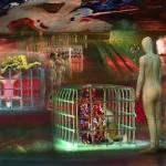 Dentro le segrete cose, mixed media on vinil canvas, cm 140x210, 2006