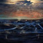 """""""La visione dell'aquila"""" oil on canvas. Cm. 250x170, 1992"""
